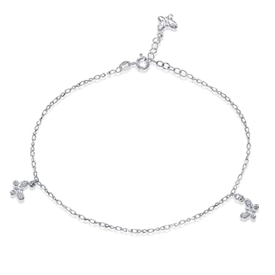 c504fd9af89 Buy Peora 925 Sterling Silver Fem Butterfly Anklet for Women and Girls  Online at Low Prices in India | Amazon Jewellery Store - Amazon.in