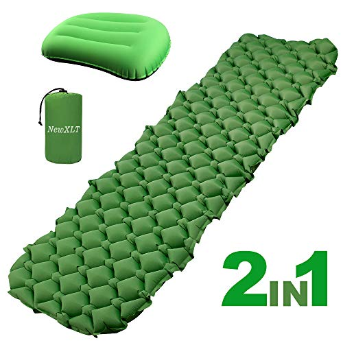 (NEWXLT Camping Pad, Camping Mat Travel Pillow, Sleeping Mat for Camping Hiking Travelling)