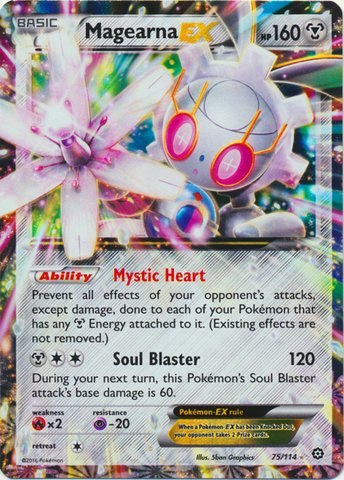(Pokemon - Magearna-EX (75/114) - XY Steam Siege - Holo)