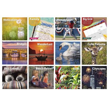 Calendar Wall 16 Month 2019 12AST 11X12 120PC Floor Display, Case Pack of 120