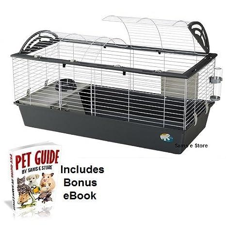 Pequeño mascota XL jaula conejo Guinea Pig fácil acceso accesorios ...