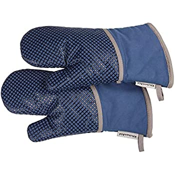 Amazon Com Kitchenaid Silicone Grid Oven Mitt Blue Home