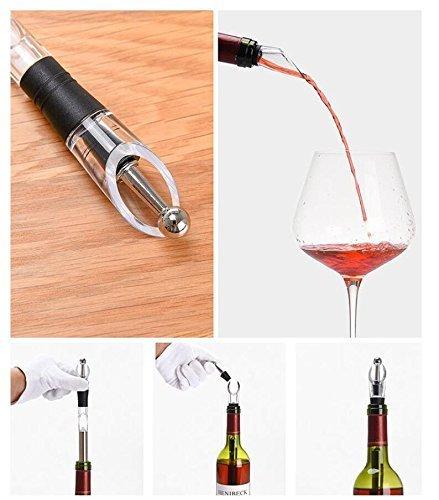/Jentay 4/en 1/bouteille de vin en acier inoxydable Cooler b/âton cong/élateur avec a/érateur et bec verseur /à d/écanter pour Merlot Bi/ère Whisky Cocktails Raisin refroidisseur /à vin/