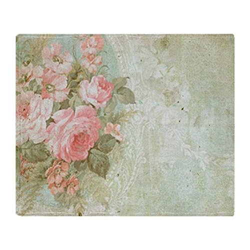 CafePress - Chic Vintage Pink Rose - Soft Fleece Throw Blanket, 50