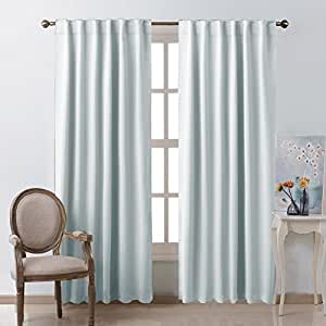 Living room blackout curtain drapes greyish for B m living room curtains