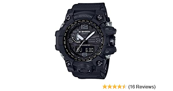 Amazon.com: Mens Casio G-Shock Triple Sensor Mudmaster Black Watch GWG1000-1A1: Watches