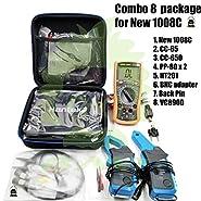 Combo 8 of Hantek New! 1008C Auto USB oscilloscope + 2 pcs PP80 Probe + 1 Set CC650 + 1 Set CC65 Current Clamp + 1pcs HT201 Attenuator + 1 pc BNCtoDMM Adapter + 1 Pair Back Pin + 1 VC890D Multimeter