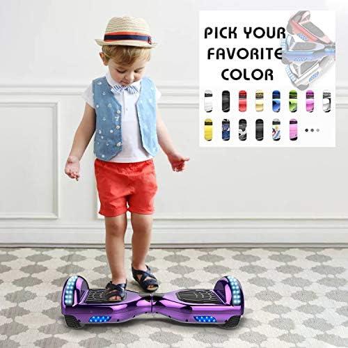 Hoverboards, Gyropode électrique 6.5 Enfant Self-Balance Board avec Roues LED Flash Overboard Bluetooth Overboard Hover Scooter Board