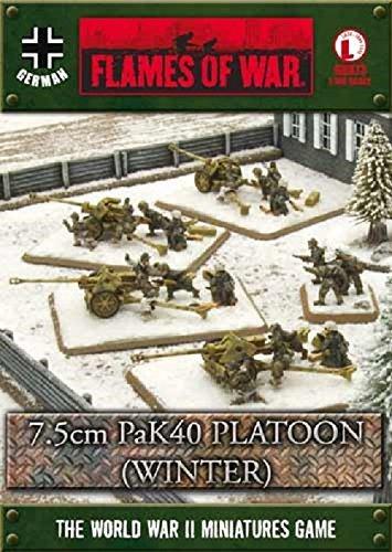 Flames of War German 7.5cm PaK40 Platoon (Winter) (GBX73, Late War)