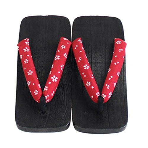 Jiyaru Zapatillas Para Hombre Sandalias De Madera Chanclas Planas Geta Japonesa Zuecos # 5