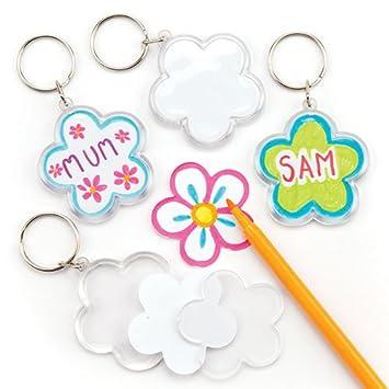 Amazon.com: Baker Ross Flower Keyring Kits for Children to ...