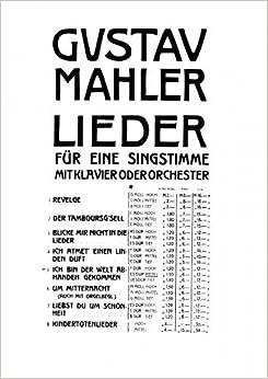 _FB2_ Rückert Lieder - Vocal Score Selections - 4. Ich Bin Der Welt Abhanden Gekommen (Eb Major, Medium Voice). Aprender start Change Facebook Lottery Coast