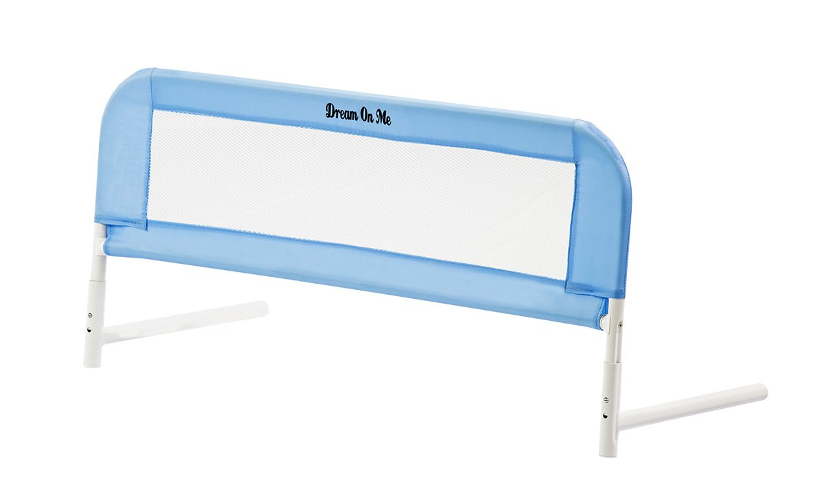 Dream On Me Mesh Security Crib Rail, Blue 419B