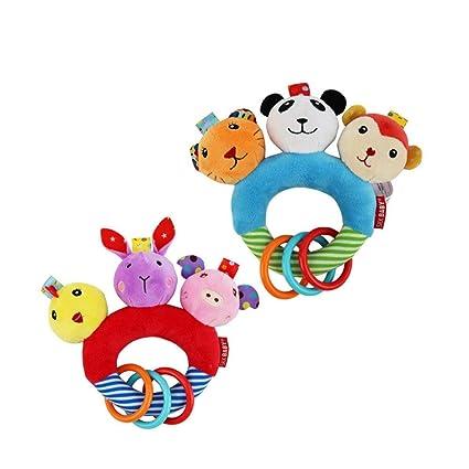 Hemore - Juguete de peluche para bebé, juguete de peluche, juguete para niños con dibujos animados de ...