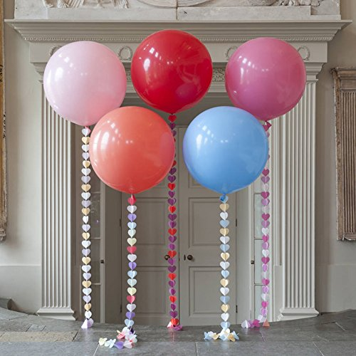 Dds5391 New 36 Inch Perfect Round Inflatable Latex Balloon Wedding Birthday Party Decor - Rose Red by dds5391 (Image #1)