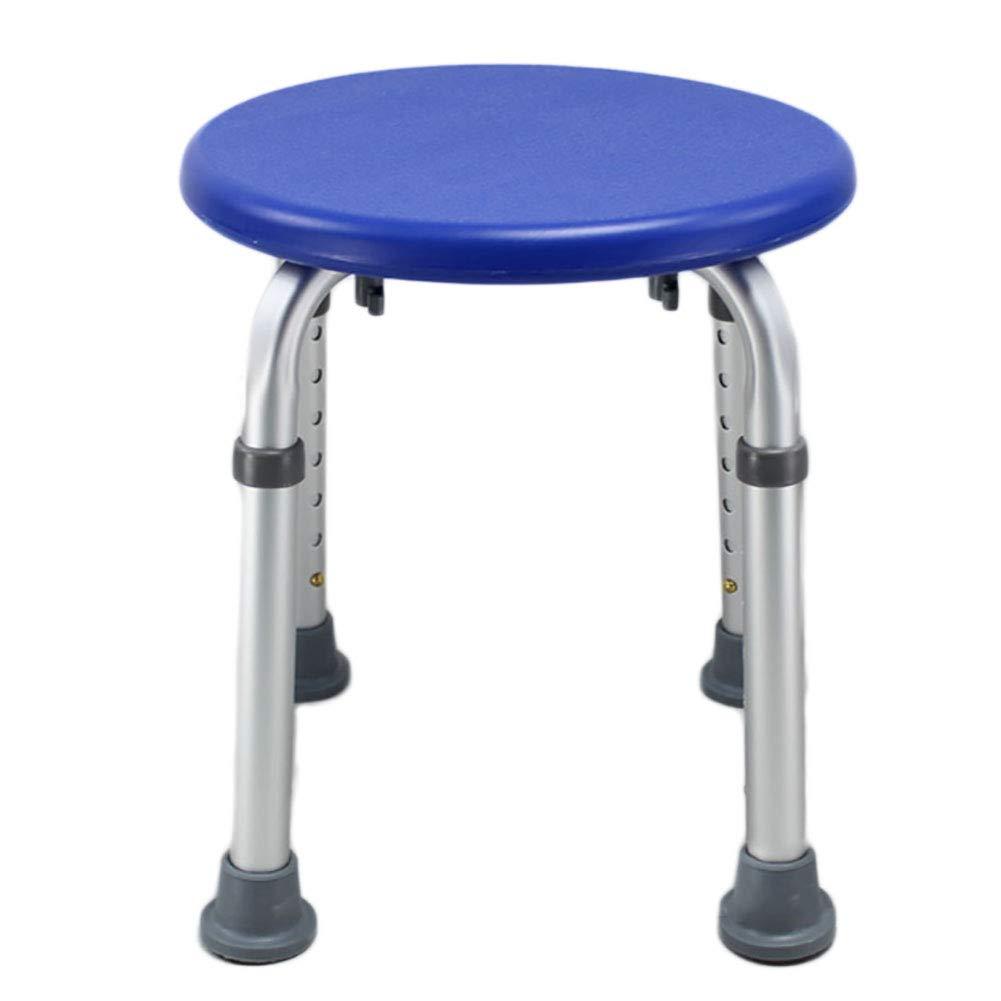 Ai Shower Chair, Adjustable Bathroom Anti-skid Seat, Round Bathtub, Pregnant Woman Flush Chair (Color : Blue)