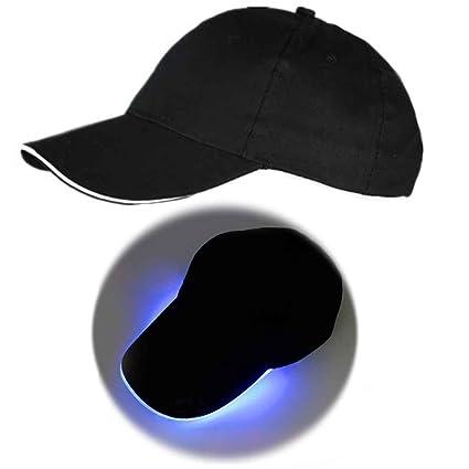 Bobury Gorra de béisbol de luz LED Gorra de Fiesta de Club ...