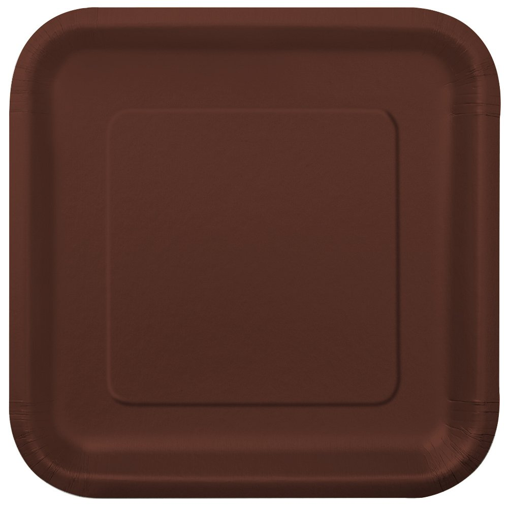 Square Brown Paper Cake Plates