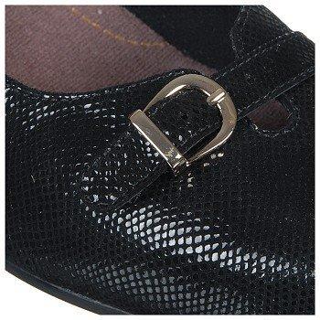 CLARKS EE Women's Caswell Genoa B00DXOF94M 12 EE CLARKS - Extra Wide Black Metallic 969883