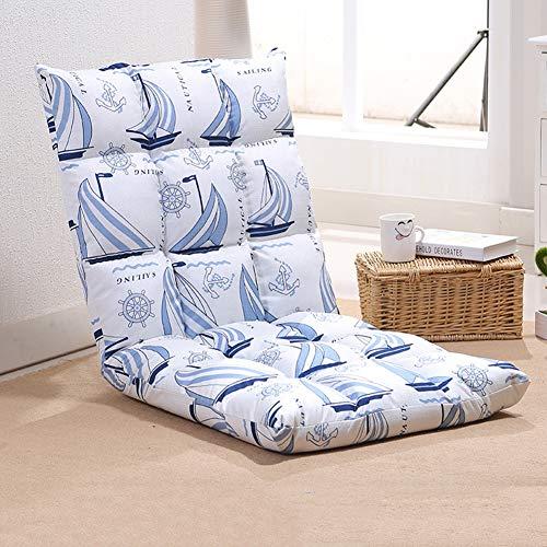 YHSGD Silla de Piso Silla de computadora Respaldo Plegable Tatami Lazy Couch Graffiti Transpirable Multiples Posiciones Extraibles y Lavables,B