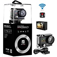4K Camera,Dual Screen Wifi Sport Camera Ultra HD 4K 25fps Waterproof Action Cam 170°Wide Angle 2.4G Remote Controller With Full Accessories