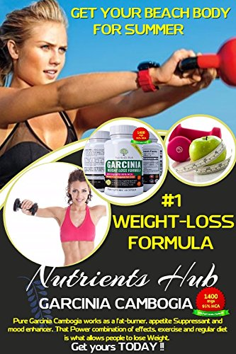 Nutrients-Hub-100-Pure-Garcinia-Cambogia-1400mgs-95-HCA-Extract-60-Veggie-Weight-Loss-pills-Natural-Appetite-Suppressant-Carb-Blocker-and-Fat-Burner-Weight-Loss-Supplement-for-Women-Men