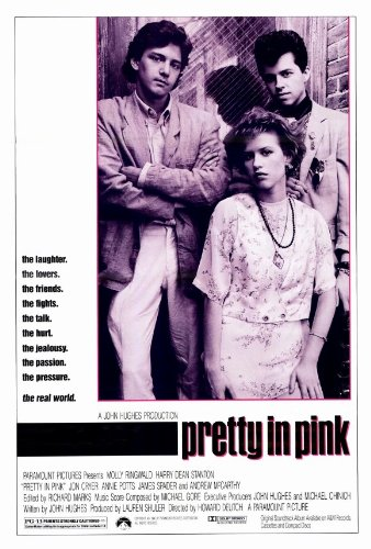 Pretty in Pink Movie Poster (27 x 40 Inches - 69cm x 102cm) (1986) -(Molly Ringwald)(Andrew McCarthy)(Jon Cryer)(Harry Dean Stanton)(James Spader)(Annie Potts)
