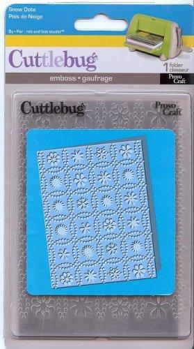 Cuttlebug A2 Holiday Embossing Folder, Snow Dots