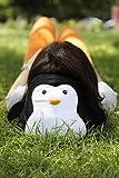 Kikkerland TT23 Zip Flip Travel Pillow, Penguin