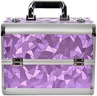 MCTECH® Estuche cosmético BeautyCase ALU Suitcase Estuche Maletín para Maquillaje 2 Estuche 32 * 21 * 26 cm (Púrpura): Amazon.es: Hogar