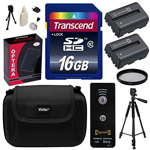Beginner's Accessories Bundle Kit for Sony Alpha A57, A58, A65, A77, A99, A100, A200, A300, A350, A450, A500, A550, A560, A580, A700, A850, A900 includes 16GB Class 10 SDHC Memory Card + Pack of 2 Replacement (1800mAh) NP-FM500H Battery + AC/DC Rapid Home by Sony