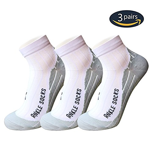 Low Cut Running Compression Athletic Socks For Men & Women - Sport Ankle Socks (Ladies Sports Ankle Socks)