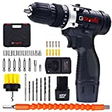 Cordless Drill with 2 Batteries - GOXAWEE