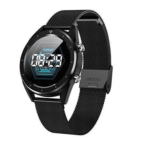 (vmree DT28 ECG Blood Oxygen Blood Pressure Heart Rate Monitor Sports Smart Watch (Black))