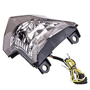 Luz trasera de alta calidad ABS para motocicleta con luz LED ...