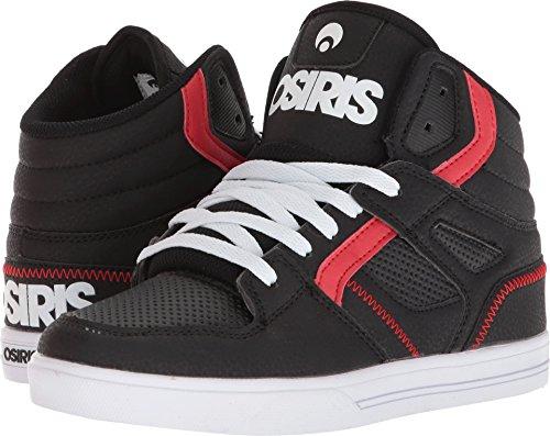 Osiris Mens Troma Sneaker Black/Black/Red dNnd8
