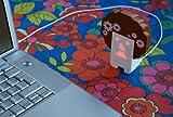 Tengu Allstars Hipster Woodstock Music Sound Lip Sync Robot Gadget LED Face Toy Tengu USB-Powered Character
