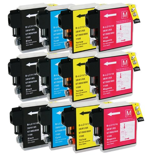 Mfc 6890cdw Color Inkjet (HI-VISION HI-YIELDS Compatible Ink Cartridge Replacement for Brother LC65 (3 Black, 3 Cyan, 3 Yellow, 3 Magenta, 12-Pack))