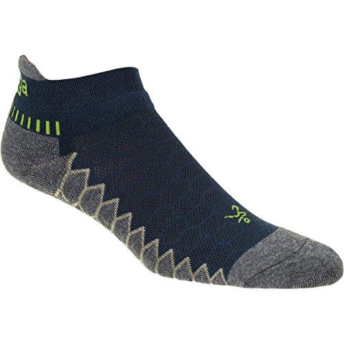 Balega Silver Antimicrobial No-Show Compression-Fit Running Socks for Men and Women (1 Pair), Legion Blue/Grey, Medium
