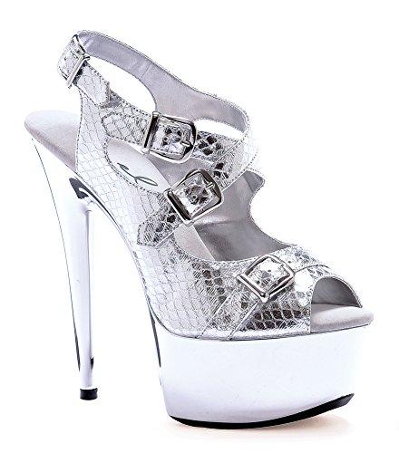 Ellie 609 Python Chaussures Femmes Chaussures Argent