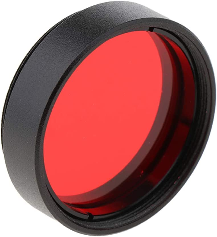 Almencla 1.25inch Telescope Eyepiece Lens Color Filter Set for Moon Planet Star Red