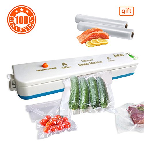 Vacuum Sealer Machine,JETITI Vacuum Sealing System for Food Storage Plus 20 FREE Sealable Bags. (Bag Machine Sealer)