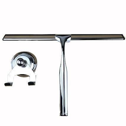 foxom ducha Squeegees, espátula de acero inoxidable para baño espejo ...