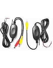 XOMAX XM-KL001 draadloze adapter voor achteruitrijcamera / parkeerhulp + draadloze zender set + draadloze videooverdracht + eenvoudige aansluiting via RCA-aansluitingen + 12V-aansluiting + ontvanger & zender in een set