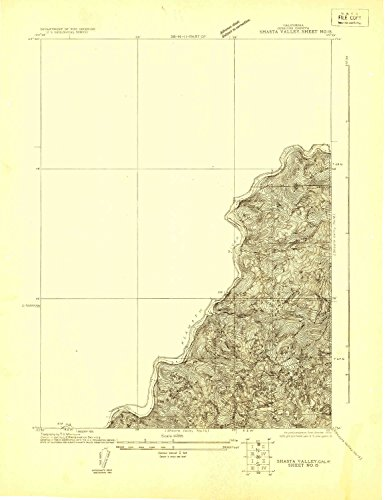 YellowMaps Shasta Valley Sheet No 15 CA topo map, 1:24000 scale, 7.5 X 7.5 Minute, Historical, 1922, 23.4 x 18 IN – Paper