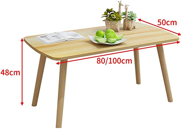 XIA Mesa de Estudio de Ocio portátil Mesa de Escritorio Simple Mesa Cuadrada (Color : Color Madera, Tamaño : 80cm): Amazon.es: Hogar