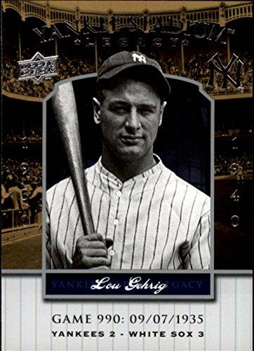 - 2008 Upper Deck Yankee Stadium Legacy Collection #990 Lou Gehrig Baseball Card
