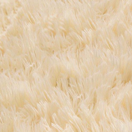 WAN SAN QIAN- Children Bedroom Carpet Living Room Carpet Sofa Europe Princess Rectangle Blended Carpet Long Hair Coarse Shag Rug Rug ( Color : Cream color , Size : 160x250cm ) by Rug (Image #1)