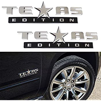 Amazon Com Complete Texas Edition Truck Badge Kit In Chrome Chevy