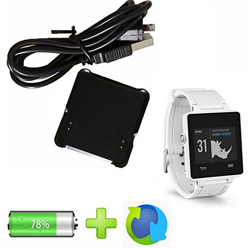 Base de carga USB Cable Interfaz Cuna de datos para Garmin VivoActive GPS reloj inteligente: Amazon.es: Electrónica